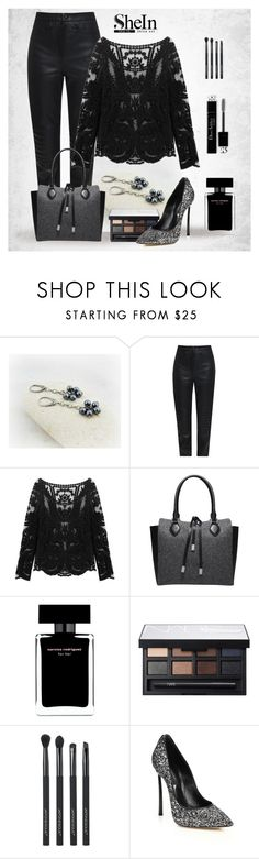 SheIn-Lace Blouse by styledonna on Polyvore featuring moda, Charlie May, Casadei, Michael Kors, NARS Cosmetics, Japonesque, Narciso Rodriguez, Christian Dior and shein