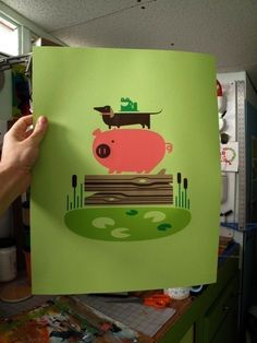 hog dog frog log print