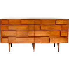 Figured Italian Walnut Chest / by Gio Ponti for M. Singer & Sons / Italy, 1950's. @Deidré Wallace
