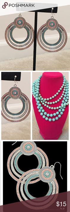 "Premier Designs Sorbet Earrings Measures 2 1/4"". Matching Premier Designs Seabreeze necklace for sale in separate listing. Premier Designs Jewelry Earrings"