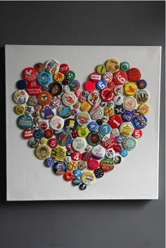 Bottle cap art!<3 Could use buttons if you like.