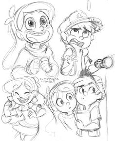 Mabel and Dipper sketches