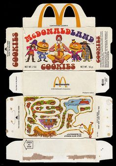 McDonalds - McDonaldland Cookie Box - Walk with Ronald maze - unfolded - 1975 by JasonLiebig, via Flickr