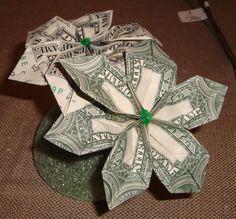 Instructions for origami money flowers pinterest money flowers how to make a money origami flower bliss tree mightylinksfo