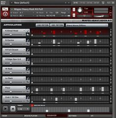 The Mapex Heavy Rock Kit Step sequencer in the Kontakt Instrument