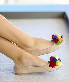 Balerini cu ciucuri multicolori Casual, Shoes, Fashion, Elegant, Moda, Shoes Outlet, Fashion Styles, Shoe, Footwear