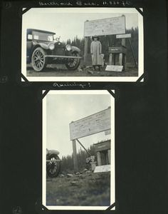 Edward and Margaret Gehrke scrapbook page, enroute to Rocky Mountain National Park, July 12-August 18, 1918