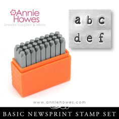 Impressart Metal Stamps - Basic Newsprint Alphabet Stamp Lowercase Set – Annie Howes