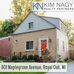 Just Listed | 801 Maplegrove Avenue, Royal Oak, MI  Charming updated colonial on a beautiful pride-of-ownership street! Convenient location is just a short walk to multiple parks,grocery stores & restaurants. Hardwoods, plaster coved ceilings and arched doorways greet you in the light-filled living room. Dining room leads you to fabulous sun room/family room addition with vaulted ceiling, new Anderson windows,doorwall, built-in bookshelves and gorgeous updated full bath nearb