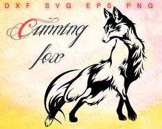 Cunning fox picture for printing svg file от VectorArtCraft