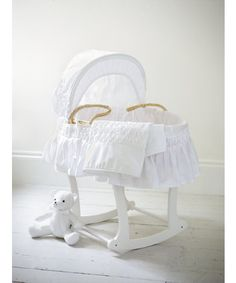 Strong-Willed Izziwotnot Moses Basket With Stand Reliable Performance Baby Bassinets & Cradles