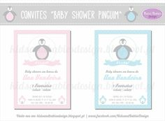 Kids&Babies: Party Printables :: Baby Shower Pinguim