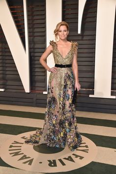 Elizabeth Banks in Elie Saab Haute Couture at the Vanity Fair Oscars Party 2017