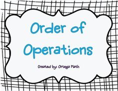 Order of Operations using positive whole numbers and decimals. (No Negative Integers or fractions included in these cards).This includes 80 task cards.Also Try: Order of Operation Task Cards with all positive rational numbers Negative Integers, Rational Numbers, Negative Numbers, Order Of Operations, Fifth Grade, Fractions, Task Cards, Math Activities, Teacher