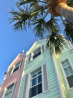 Cape Canavaral, Florida  Colorful townhouses in Lighthouse Point Florida