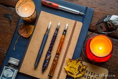 Fountain pens are made for fall! Fill your writing collection up with fountain pens, ink, and paper ideal for giving your manuscript a warm glow. Pin for later!