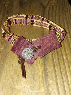 Native American inspired Southwest chic bead loom band