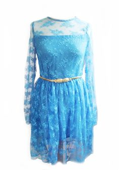 Turquoise Lace Dress- Bridesmaids Briddal Weddings. $110.00, via Etsy.