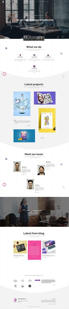 Origin is clean and modern design multipurpose #PSD template for #minimal business agency website download now..
