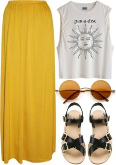 Blouse: sun maxy skirt sunshine yellow paradise top skirt shirt grunge summer ou… Blouse: sun maxy skirt sunshine yellow paradise top skirt shirt grunge summer outfits hipster More from my siteLowndes Chambray Skirt Outfits Hipster, Mode Outfits, Casual Outfits, Skirt Outfits, Hipster Shoes, Boho Summer Outfits, Outfit Summer, Casual Summer, Fashion Outfits