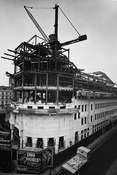 BBC Broadcasting House under construction in 1930
