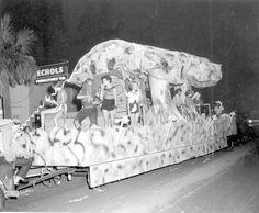 Florida Memory - Parade float at the Billy Bowlegs Festival - Fort Walton Beach, Florida