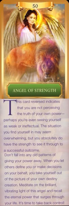 Angel of Strength - Reversed meaning