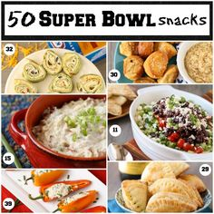 50 Super Bowl Snacks from Garnish with Lemon