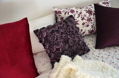 Decorative pillows- I love dark purple!