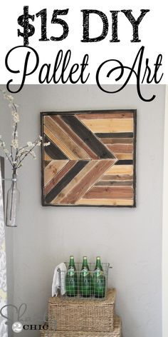 DIY Pallet Art inspired by Pottery Barn!  I LOVE this!