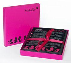 Pink Box - Kartonschachtel in Pink mit schwarzem Aufdruck   Pinkbox.ch Beauty Abo