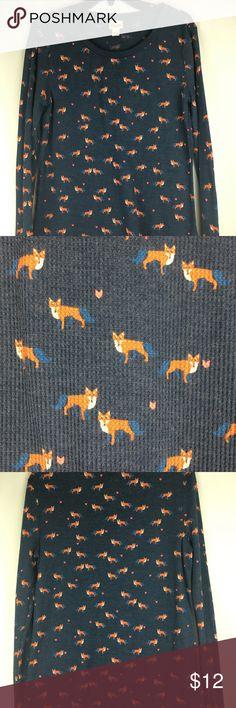Mossimo XL Fox Print Thermal Shirt No Flaws Size XL Mossimo Brand Fox Print Mossimo Supply Co. Tops Tees - Long Sleeve