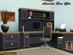 Maxandre Home Office by Canelline - Sims 3 Downloads CC Caboodle