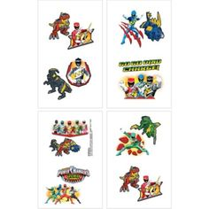 Power Rangers Tattoos 16ct - Party City For the goody bag