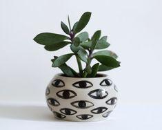 Eye Pot  Ceramic Vase  Cache Pot by KinskaShop on Etsy, £40.00