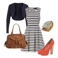 LOVE! Minus the chunky heeled shoe... I think I'd pair it with red flats or cute white sneakers for a day off.
