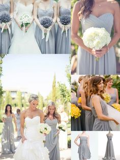 Top 10 Colors for Bridesmaid Dresses - Gray This light gray is lovely and gives a great neutral color to pick any color bouquets
