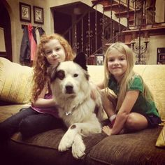 "Francesca Capaldi, Mia Talerico, and ""Stan"" on the set of DWAB!"