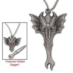 Elder Dragon Necklace w/ Hidden Knife   $10