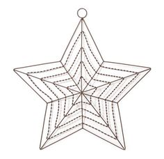 The Country Porch features the Rusted Wire Star w/Hook 20 inch for patriotic americana style home decorating. Starburst Wall Decor, Medallion Wall Decor, Crochet Snowflake Pattern, Crochet Snowflakes, Wood Stars, Star Wall, Geometric Wall, Crochet Home, Filet Crochet