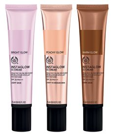 The Body Shop Instaglow CC Cream Summer 2016 // Take your look to the next level by using this skincare and makeup product to add highlight above your cheekbones on top of your BB cream, or apply a small amount all over the areas you want to 'strobe', before or after BB cream!
