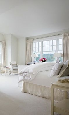 Bedroom in Alexa Hampton - Large master suite with vaulted ceiling, Architectural Digest