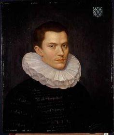Portret van Nicolas de Malapert (1564-1615) (1583) toegeschreven Daniël van den Queecborne. Olieverf op paneel.  Inventarisnummer 8885