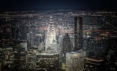 to sit on top of a skyscraper at night in NY City Great Places, Places To See, Beautiful Places, New York Architecture, Foto Art, Night City, Wonders Of The World, Places To Travel, New York City