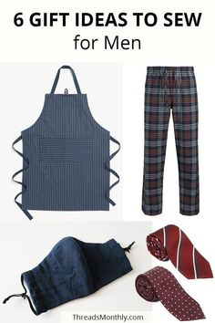 Here are 6 popular gift ideas to sew for men. Great for christmas and birthday gifts. Links to sewing patterns (including free ones!) and tutorials are included. Crochet Blanket Patterns, Crochet Stitches, Diy Sewing Projects, Sewing Crafts, Handmade Gifts For Men, Easy Sewing Patterns, Beautiful Crochet, Free Sewing, Single Crochet