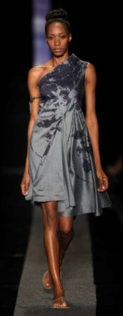SIES!isabelle SS2013-14 Tailored Minka dress in petrol blue raw silk with flower egg print Jewelry by Scarlet Shoes by RedOke