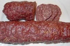 homemade summer sausage - my grandma's recipe….an easy recipe to use up extra ground beef or venison. -Easy homemade summer sausage - my grandma's recipe….an easy recipe to use up extra ground beef or venison. Homemade Summer Sausage, Summer Sausage Recipes, Homemade Sausage Recipes, Homemade Recipe, Venison Summer Sausage Recipe, Summer Recipes, Snacks Homemade, Easy Snacks, Easy Meals