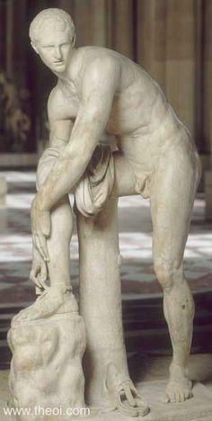 Hermes à la Sandale - Ancient Greco-Roman Statue Roman History, Art History, Sculpture Romaine, Alexandre Le Grand, Hermes, Louvre Paris, Greek Statues, Roman Sculpture, Greek And Roman Mythology