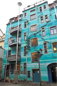 Singing building....A #beautiful building in Dresden, Germany is designed to collect rain and turn it into #music
