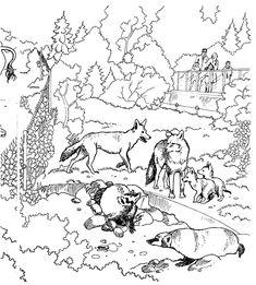 coloring page Zoo Kids-n-Fun